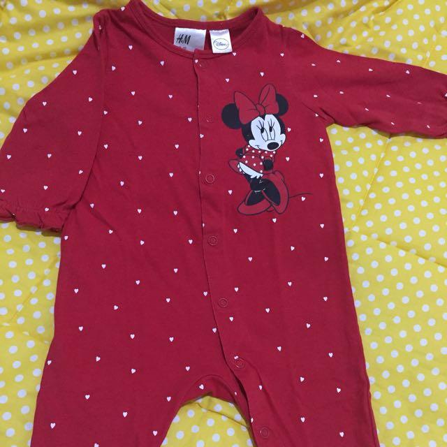 HnM Minnie Sleepsuit (open feet)