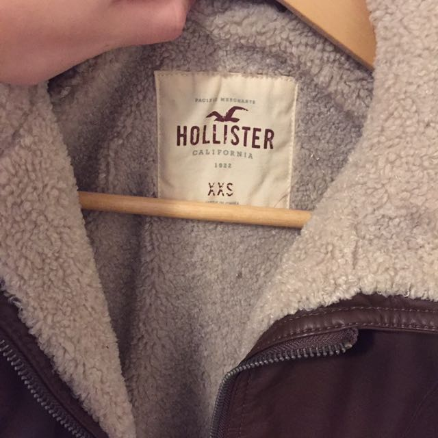 Hollister Aviator Jacket With  Plush Lining