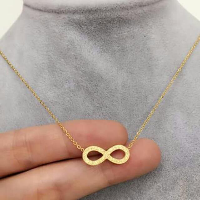 Infinity Rosegold Stainless Necklace