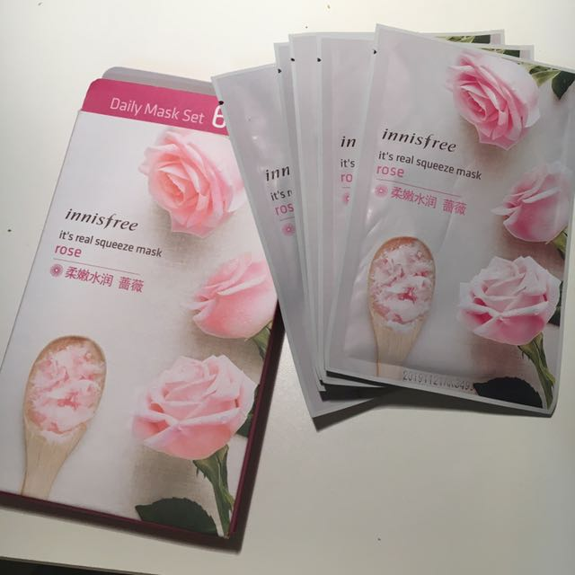 Innisfree It's real squeeze mask rose x5