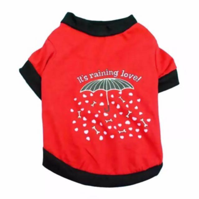 It's Raining Love Dog T Shirt