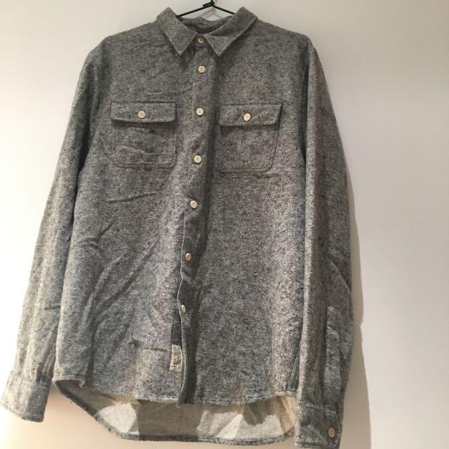 Jack Wills Large Heather grey cotton and acrylic blend size large