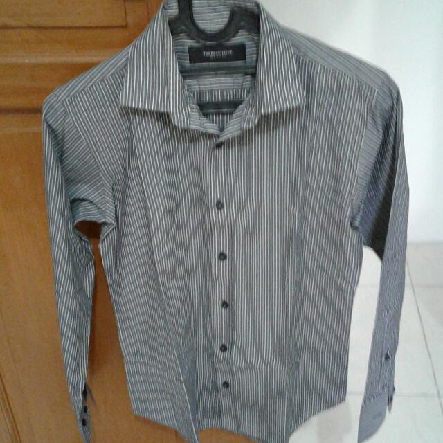 Kemeja Panjang The Executive Size 15 Stripe Black
