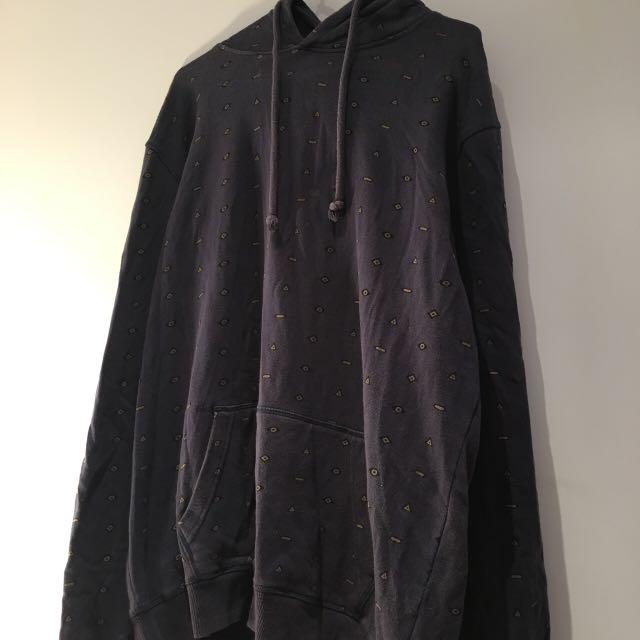 Kenji Navy Hoodie unique pattern sweatshirt 90s vintage