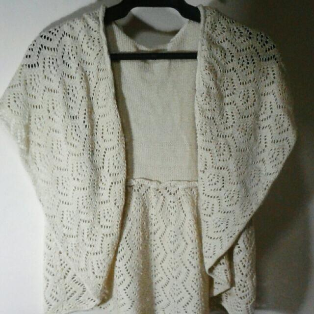 Knitted Bohemian Crop Top (Vest)
