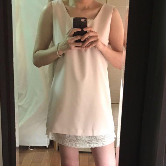 全新ladyqueen蕾絲滾邊洋裝