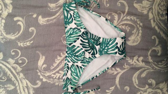 Leaf-print Bikini Bottoms