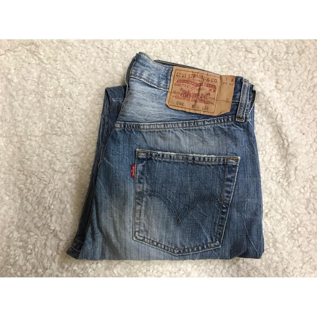 LEVI'S LEVIS 04501-0113 W30 L34 淺藍直筒牛仔褲 501 502 505 523 522