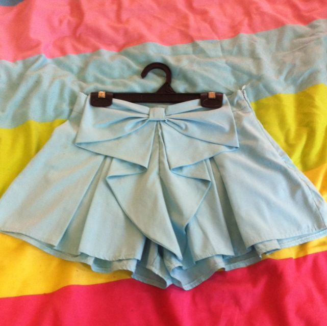 Light Blue Bow Skort Size Au 6