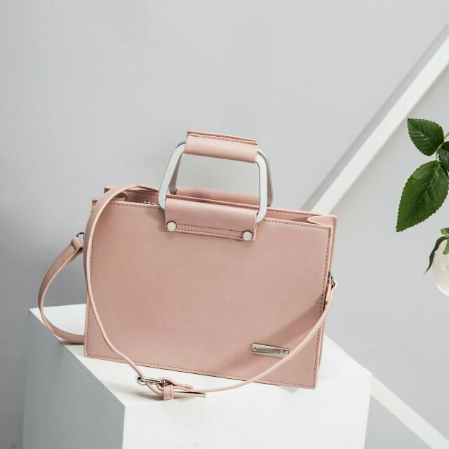 Luna Bag Pink Pastel (Jimshoney), Fesyen Wanita, Tas & Dompet di Carousell
