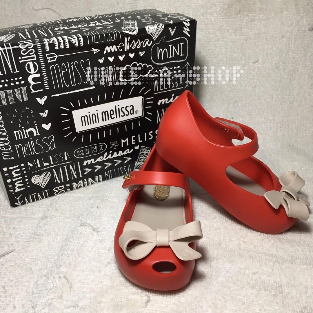 Mini Melissa Bow Red Original (Preloved)