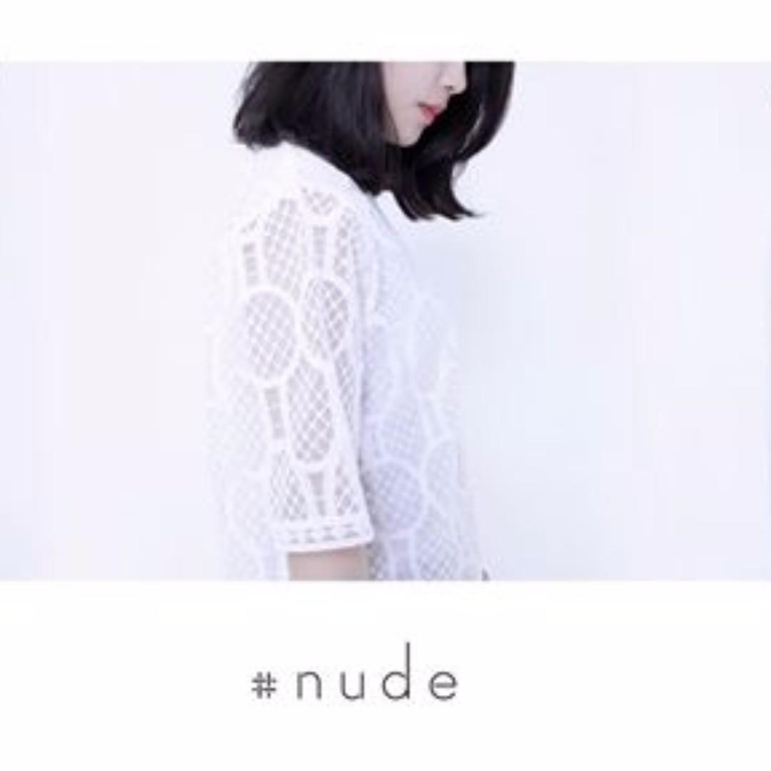 NUDE 白色蕾絲上衣