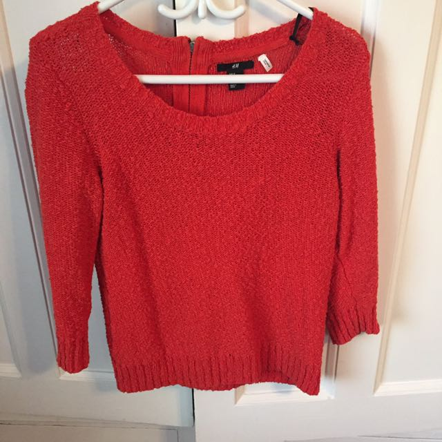 H&M Orange Sweater