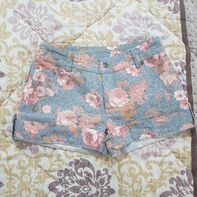 Pastel Denim Floral Short
