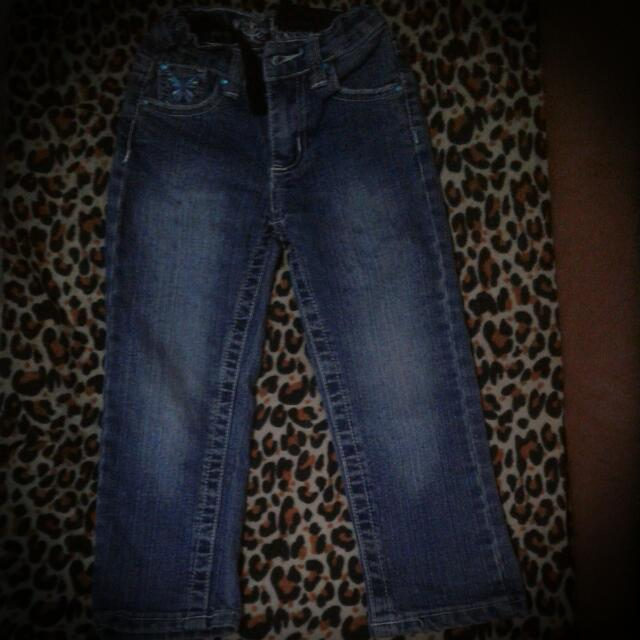 *Pre Loved* 3T Adjustable Waist Jeans