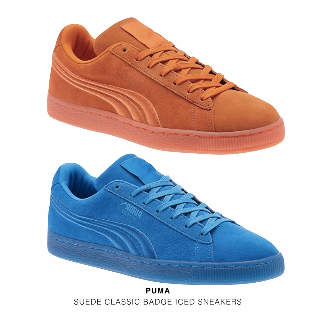 PUMA SUEDE CLASSIC BADGE ICED SNEAKERS 麂皮刺繡款 四色