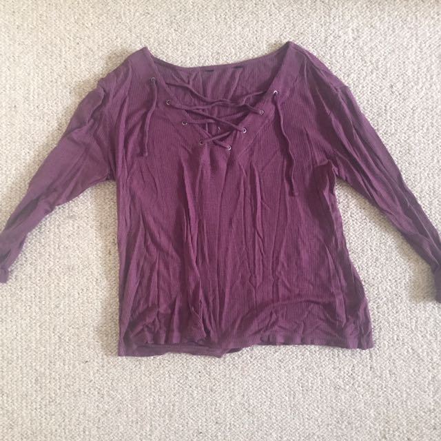 Purple/ Maroon Top