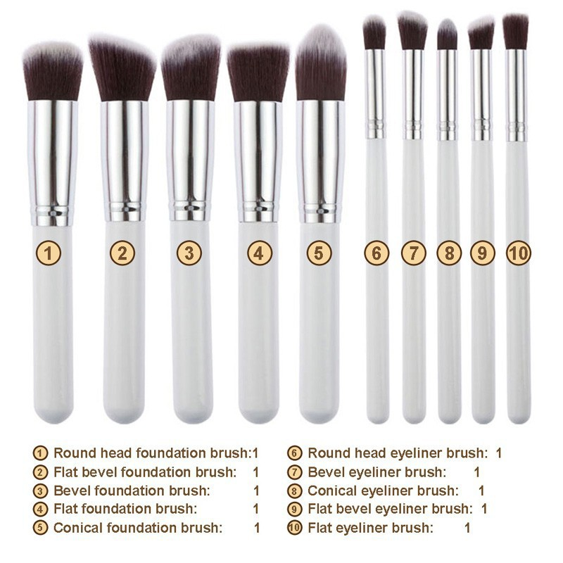 [Readystock] 10pcs Kabuki Professional Makeup Brush
