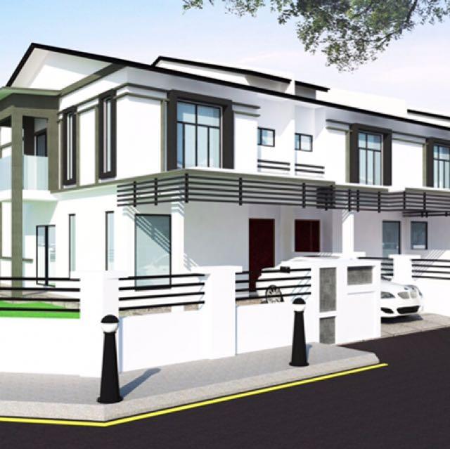 Rumah Teres 2 Tingkat Baru Moden Eksklusif Property Untuk Dijual Di Carou