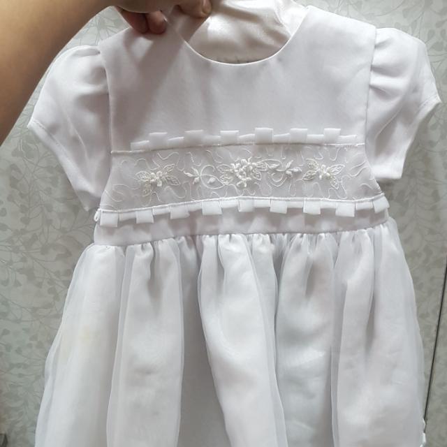Rustan's Baby White Dress - Formal Baptismal