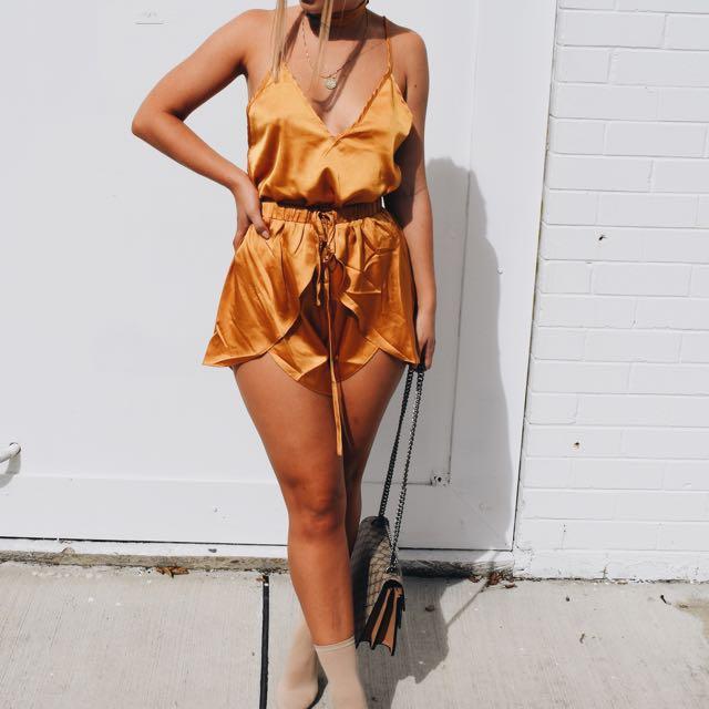 Sabo Skirt Mustard Set