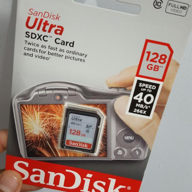 Scandisk 128 GB Camera Card