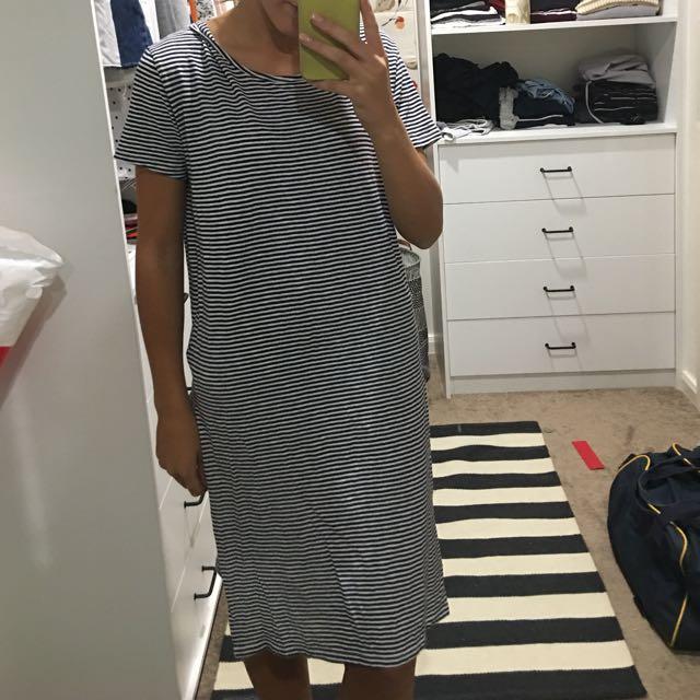 Seed Striped Dress With Split