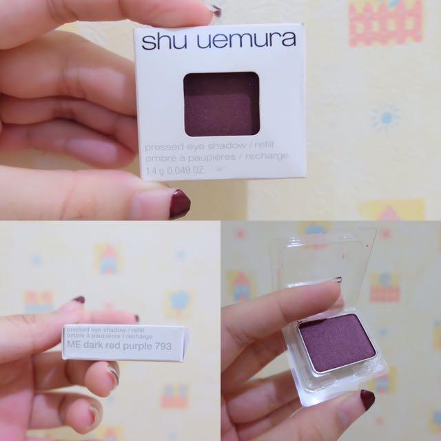SHU UEMURA PRESSED EYE SHADOW SINGLE - 793 (ME Dark red purple)