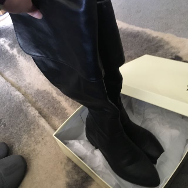 miss shop: Size 7 Black Knee High/over The Knee Boots