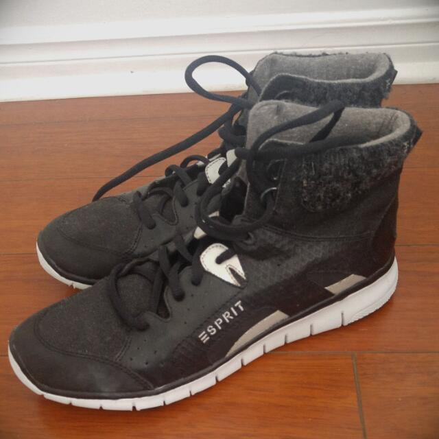 Esprit Black Athletic Shoes