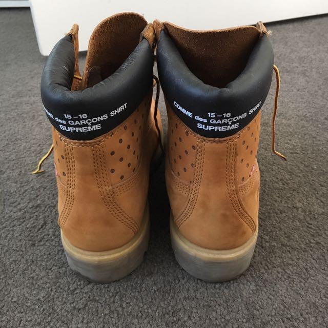 Supreme x COMME des GARÇONS SHIRT x Timberland Boots