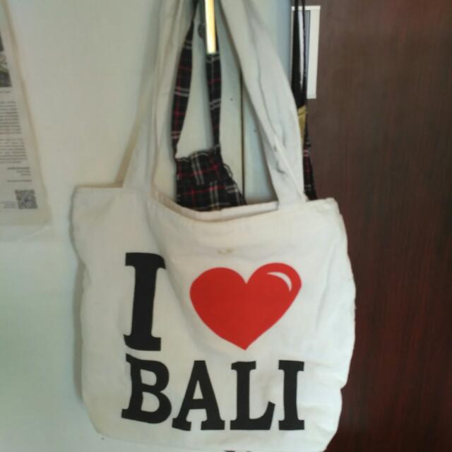Tas Canvas I Love Bali