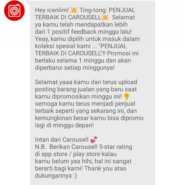 Thank You CAROUSELL 🙏