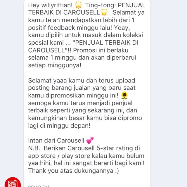 Thanks Carousell!
