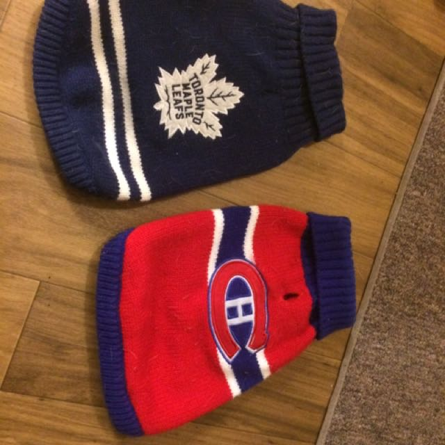 Toronto Maple Leafs And Canadian Montreal Dog Jerseys Sweaters