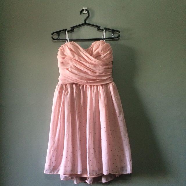 Viola Baby Pink Formal Tube Dress