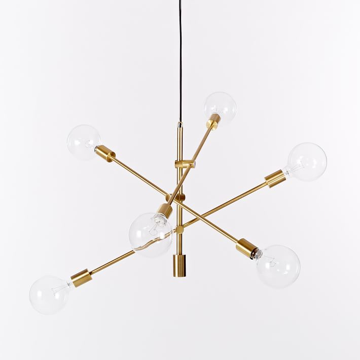 West Elm Mobile Chandelier - Brass