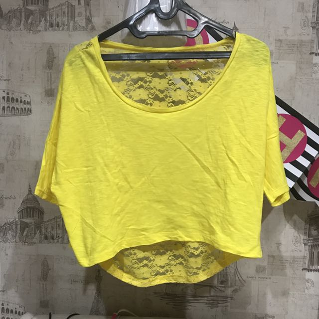 Yellow Lace Croptop