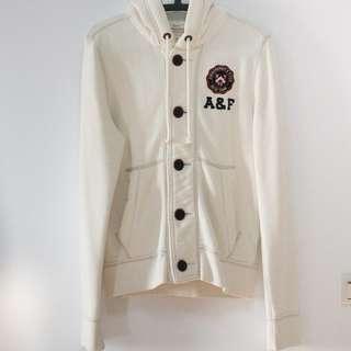 A&F 米白色棉質外套 SIZE S 美國購入