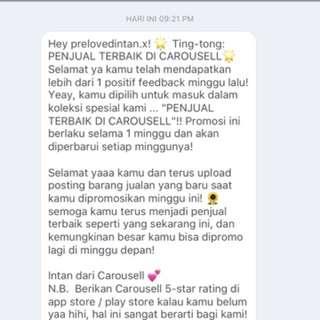 Thankyou Carousell 😊