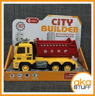 City Builder Fire Truck Dump Truck Toy