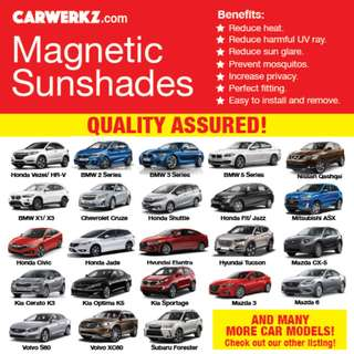 QUALITY Magnetic Sunshades for many car makes!