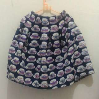 Rok Navy Motif (Navy Mini Skirt)