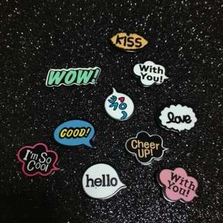 Words Brooches Or Magnet
