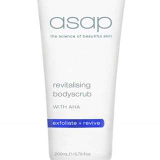ASAP Revitalising Body Scrub New 200ml Authorised Strongest RRP $45