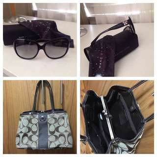 Authentic Marc Jacobs Sunglasses And Coach Bag