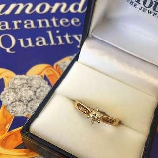 Yellow Gold Diamond Engagement Ring #sunrisetv