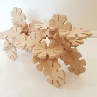50pc WOODEN OCTO-PUZZLE SET ***NEW - NZ MADE***