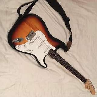 Electric Guitar, Amplifier, Case