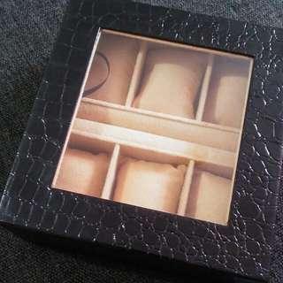 6-watch organizer/box with ring holder